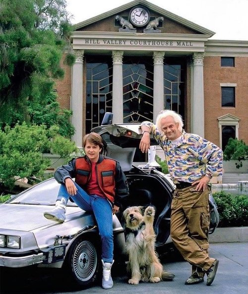 Back To The Future with Marty Doc and Einstein 1985.jpg