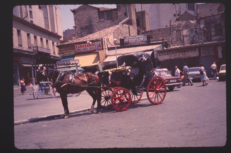 Athens Monastiraki 1978 Horse.jpg